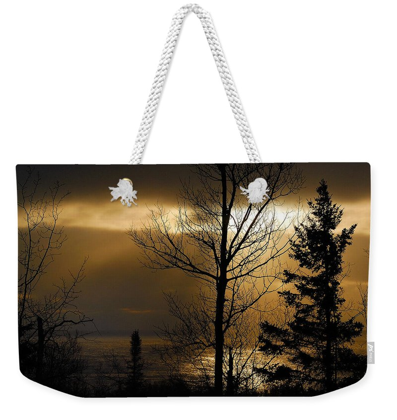 Nature Weekender Tote Bag featuring the photograph Winter Sunrise 1 by Sebastian Musial