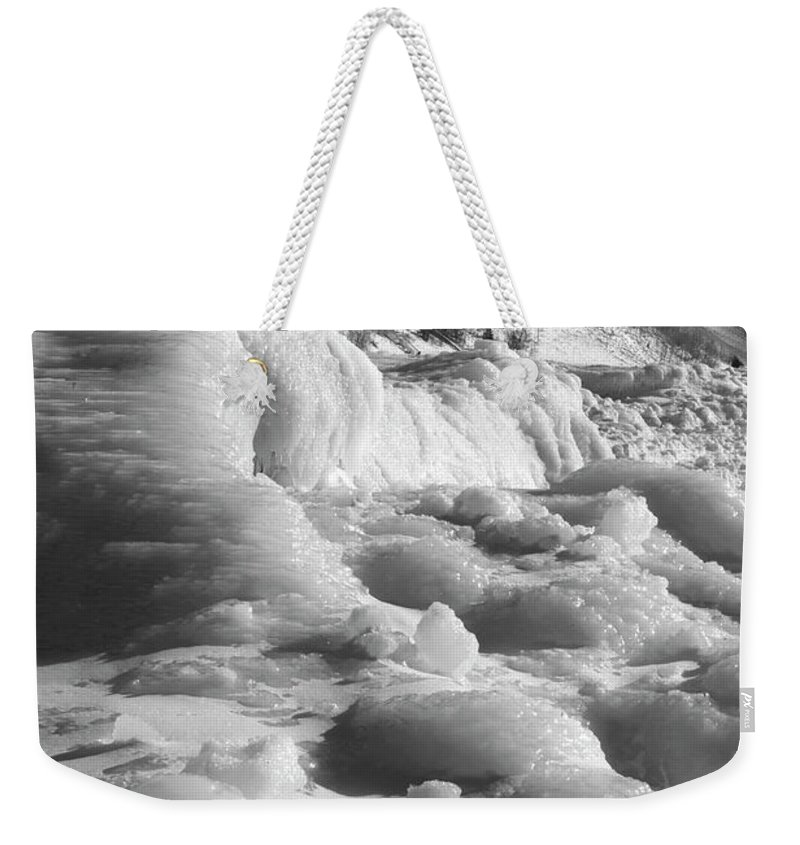 Photography Weekender Tote Bag featuring the photograph Winter Texture by Frederic A Reinecke