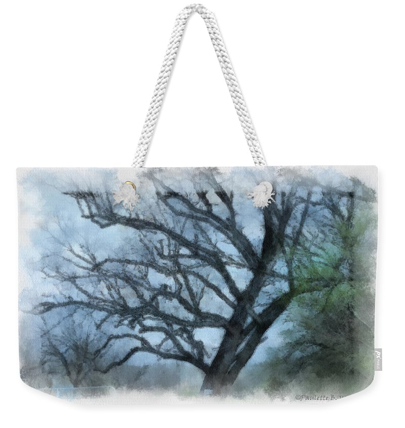 Texas Weekender Tote Bag featuring the photograph Winter Tree by Paulette B Wright