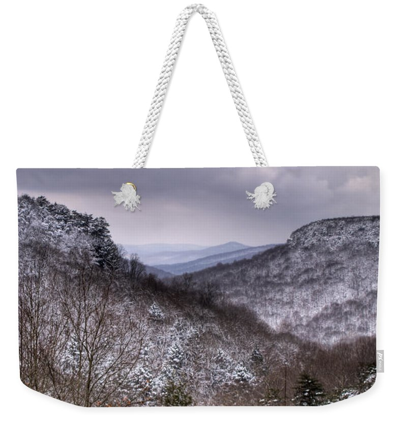 Cumberland Weekender Tote Bag featuring the photograph Winter Valley by Douglas Barnett