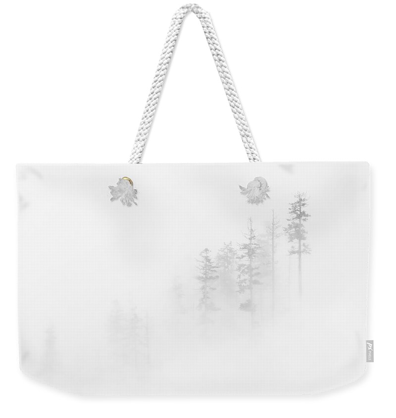 Winter Weekender Tote Bag featuring the photograph Winter Veil by Mike Dawson
