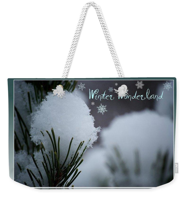 Winter Weekender Tote Bag featuring the photograph Winter Wonderland by Lisa Knechtel