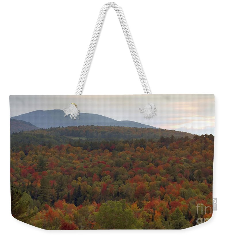 Fall Weekender Tote Bag featuring the photograph Winters Approach by David Lee Thompson
