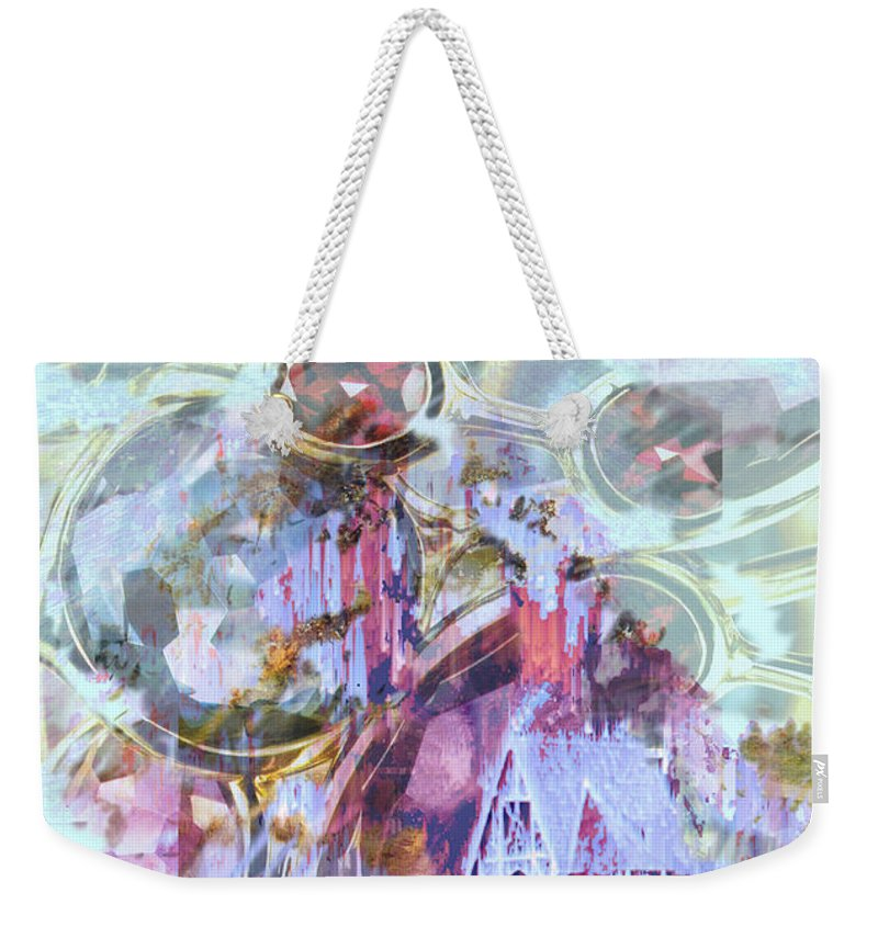 Winter Wind Weekender Tote Bag featuring the digital art Winters Blast by Seth Weaver