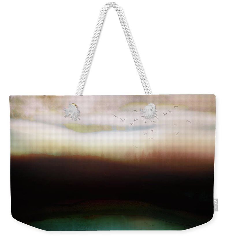 Abstract Weekender Tote Bag featuring the digital art Winters Day by Katherine Smit