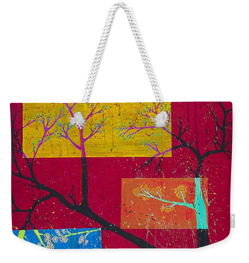 Abstract Weekender Tote Bag featuring the painting Winter's Dream by Robin Winningham