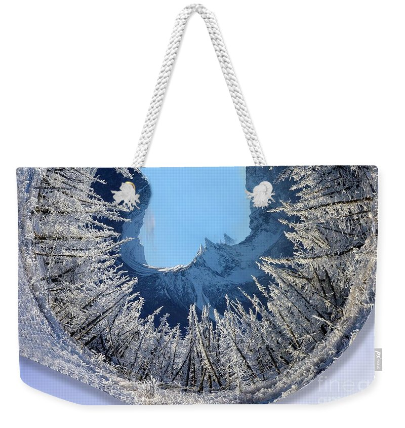 Winter Weekender Tote Bag featuring the digital art Wintery by Ron Bissett