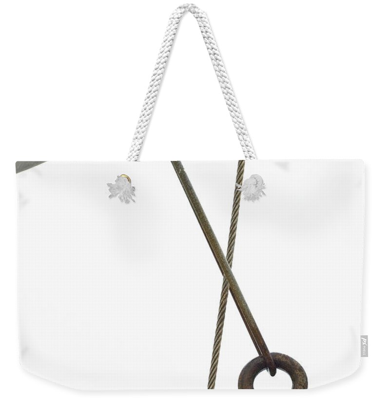 Wire Weekender Tote Bag featuring the photograph Wires by Charles Harden
