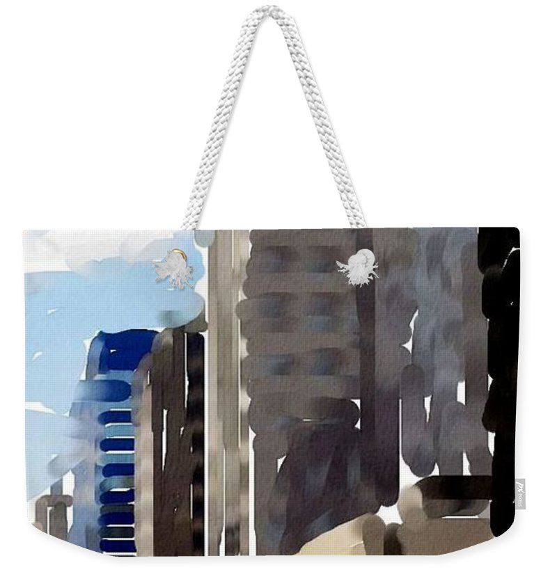 Milwaukee Weekender Tote Bag featuring the digital art Wisconsin Ave 1 by Anita Burgermeister