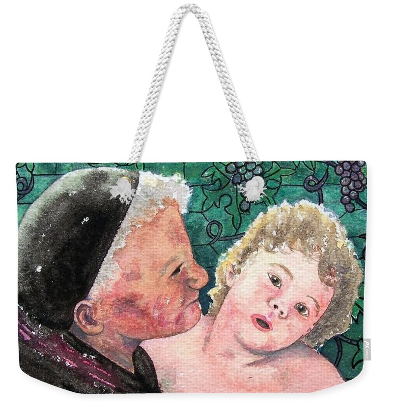 Child Weekender Tote Bag featuring the painting Wisdom And Innocence by Gale Cochran-Smith