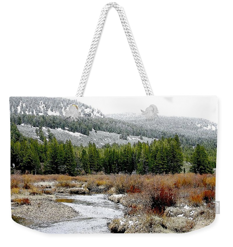 Montana Weekender Tote Bag featuring the photograph Wise River Montana by Nelson Strong