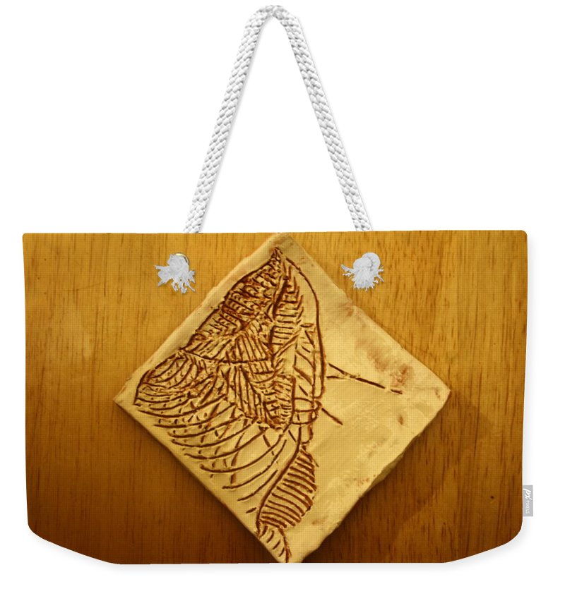 Jesus Weekender Tote Bag featuring the ceramic art Wiseman - Tile by Gloria Ssali