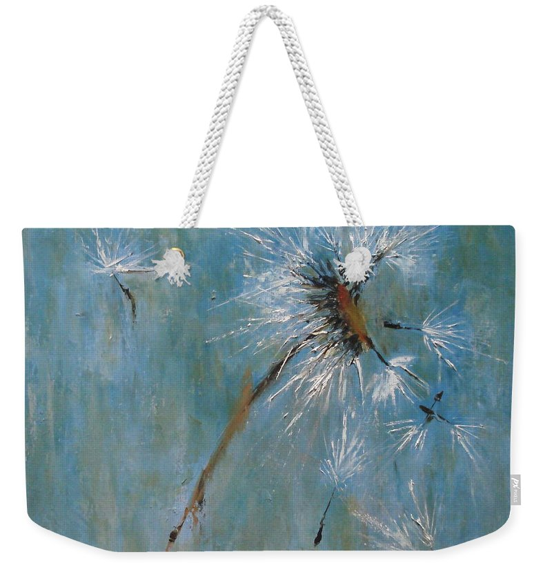 Landscape Weekender Tote Bag featuring the painting Wishes by Barbara Andolsek