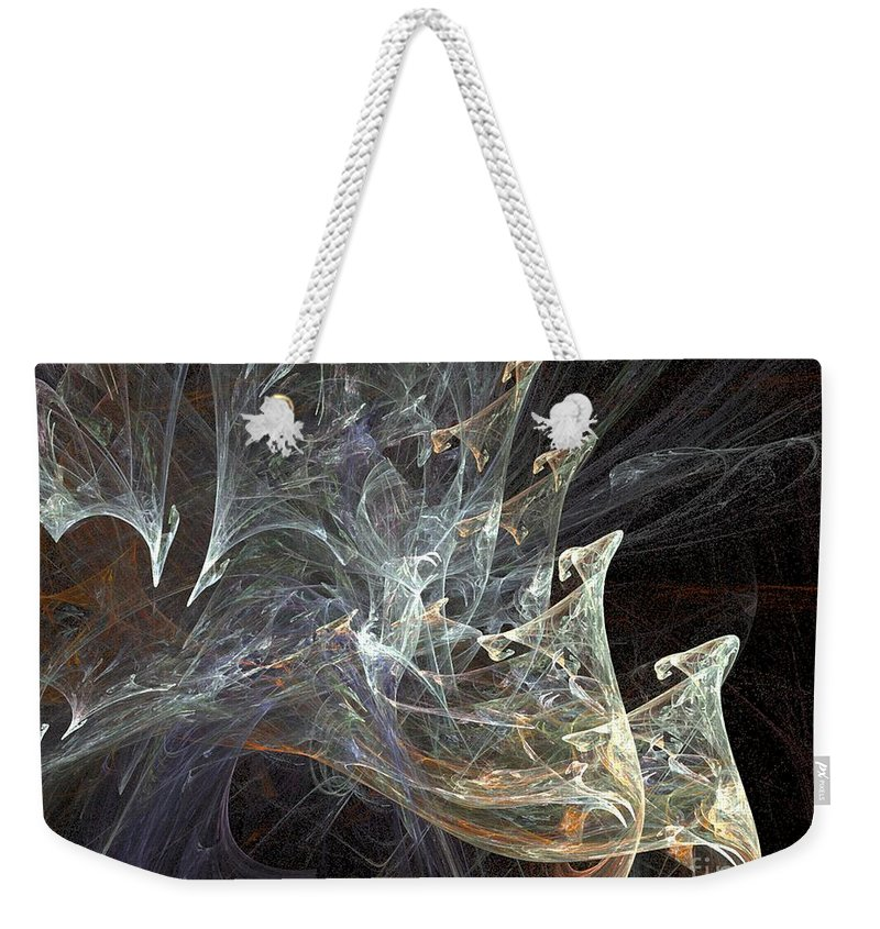 Smoke Weekender Tote Bag featuring the digital art Wisps by Ron Bissett