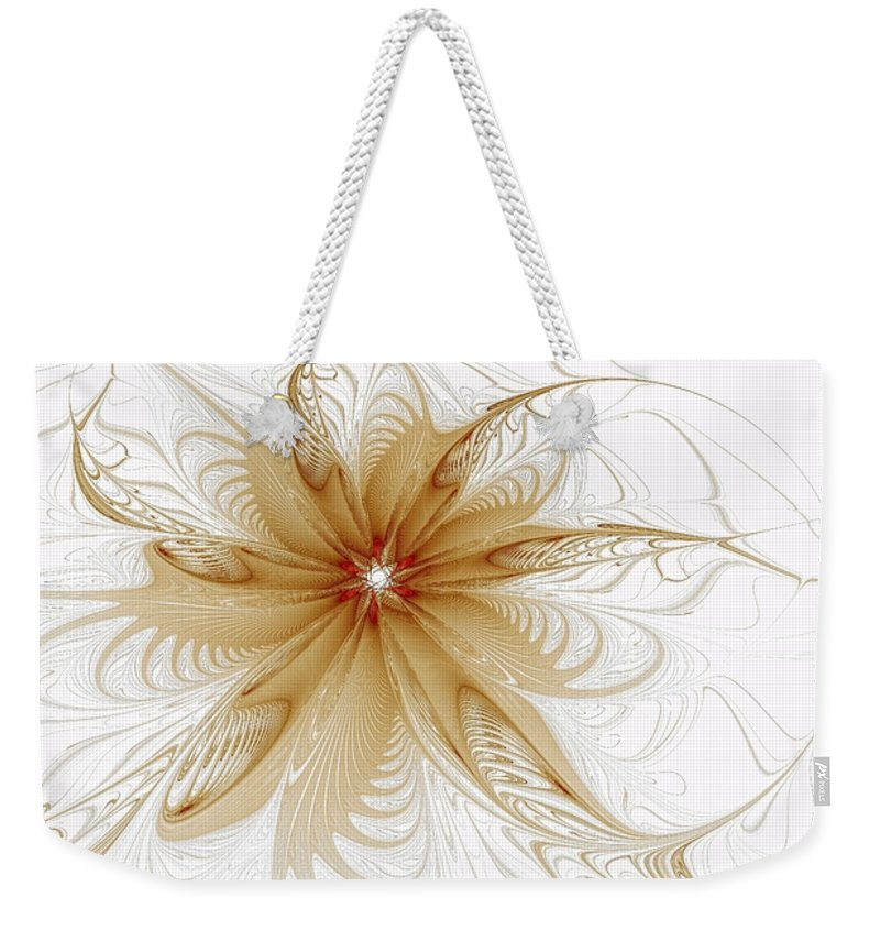 Digital Art Weekender Tote Bag featuring the digital art Wispy by Amanda Moore