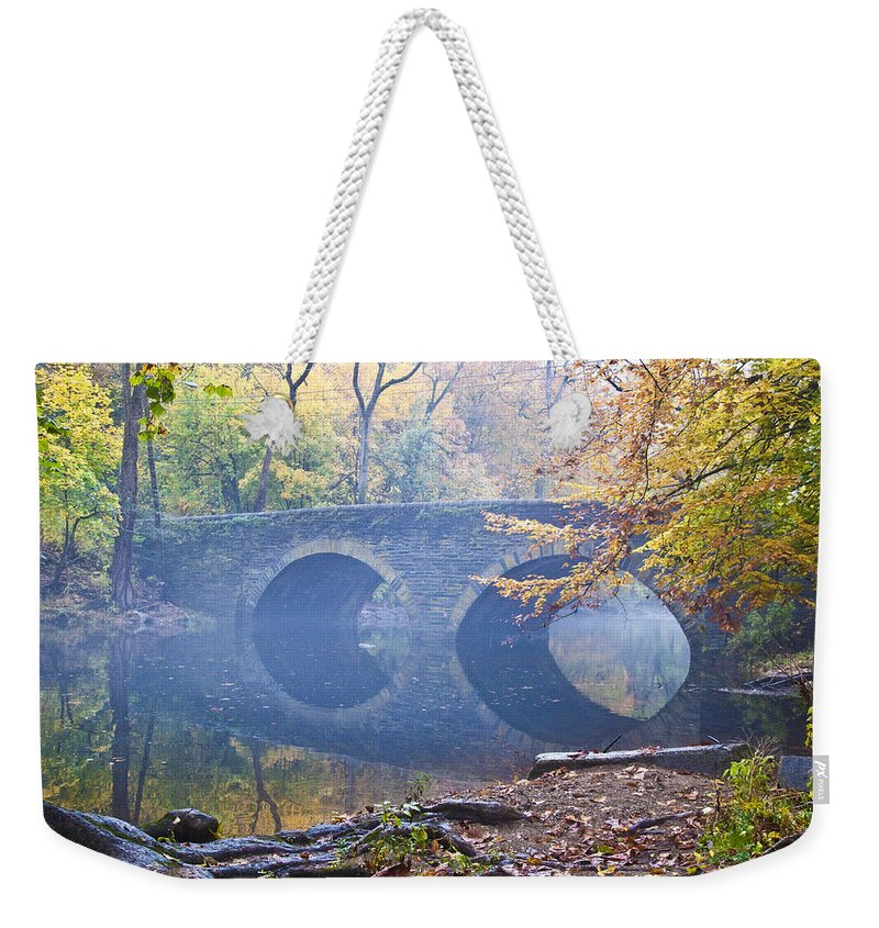 Wissahickon Weekender Tote Bag featuring the photograph Wissahickon Creek At Bells Mill Rd. by Bill Cannon