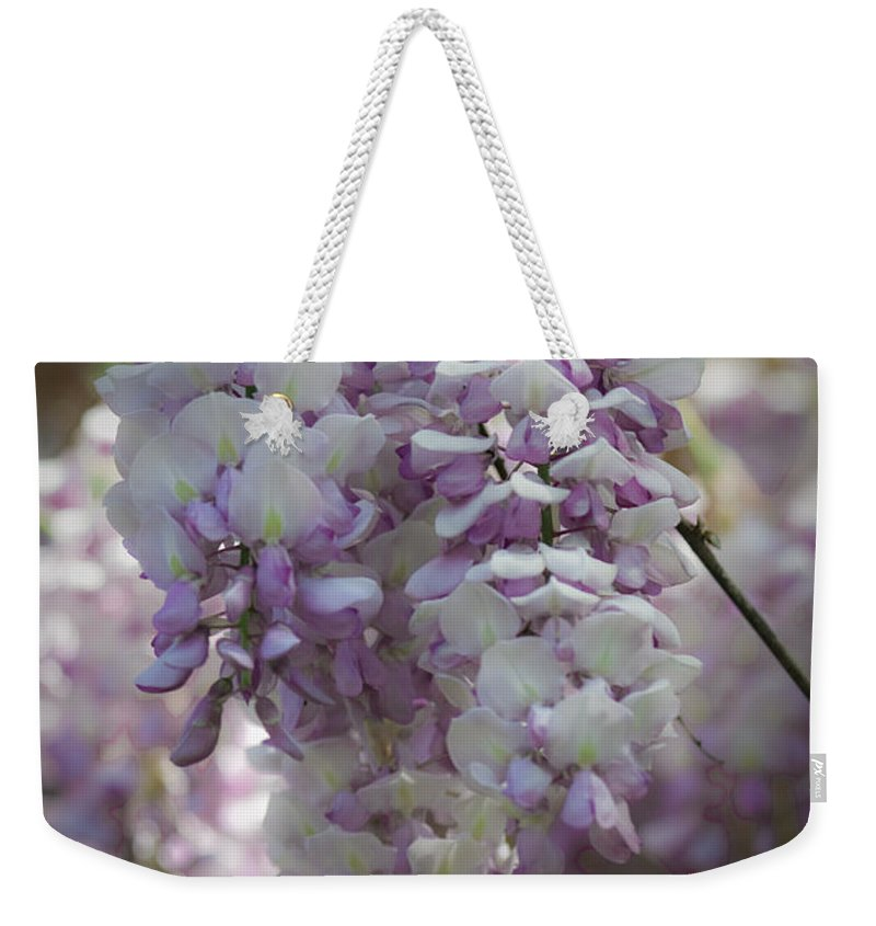 Wisteria Weekender Tote Bag featuring the photograph Wisteria Magic by Teresa Mucha
