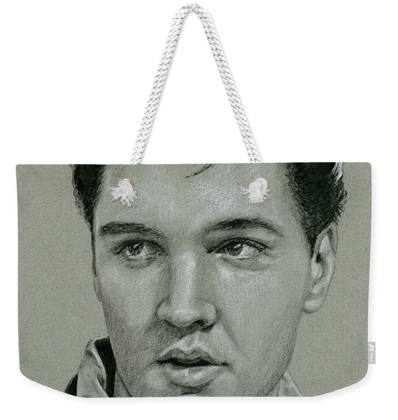 Elvis Weekender Tote Bag featuring the drawing Witchcraft by Rob De Vries