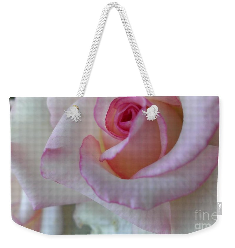 Rose Weekender Tote Bag featuring the photograph With A Dash Of Pink by LKB Art and Photography