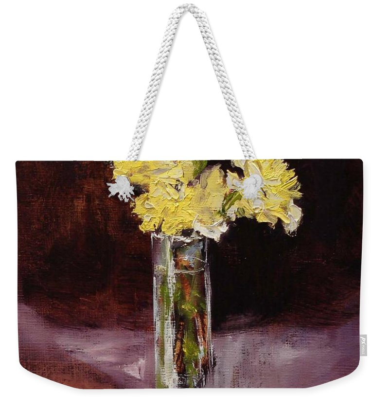Floral Weekender Tote Bag featuring the painting With Love by Barbara Andolsek