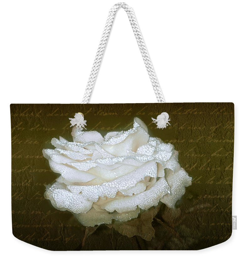 Floral Weekender Tote Bag featuring the photograph With Love by Holly Kempe