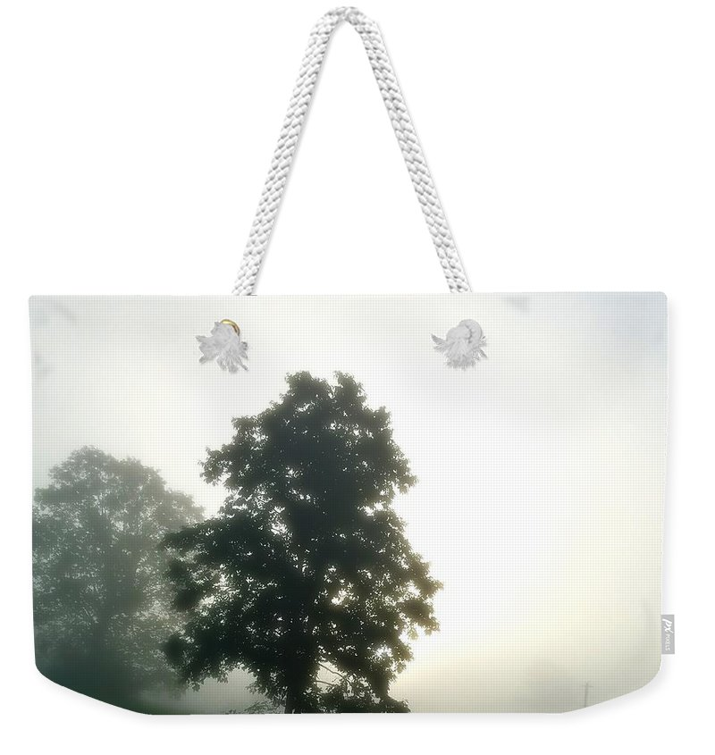 With The Rising Of The Sun 2 Weekender Tote Bag featuring the photograph With The Rising Of The Sun 2 by Maria Urso