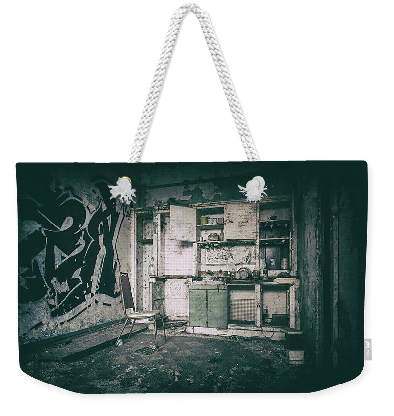 Www.cjschmit.com Weekender Tote Bag featuring the photograph With Time It All Falls Apart by CJ Schmit