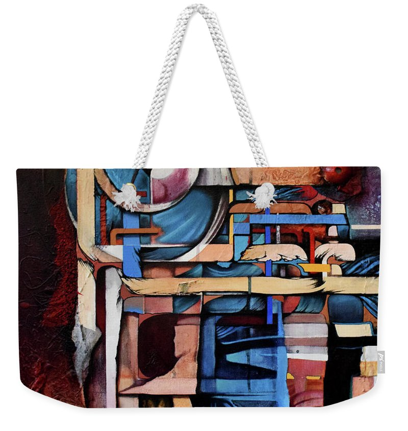 Abstract Weekender Tote Bag featuring the painting Within And Without by Zach Stelling