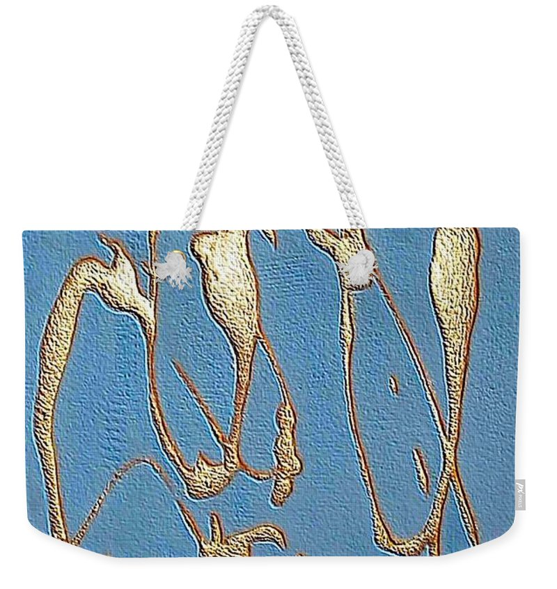 Mixed Media Weekender Tote Bag featuring the mixed media Without Order by Dragica Micki Fortuna