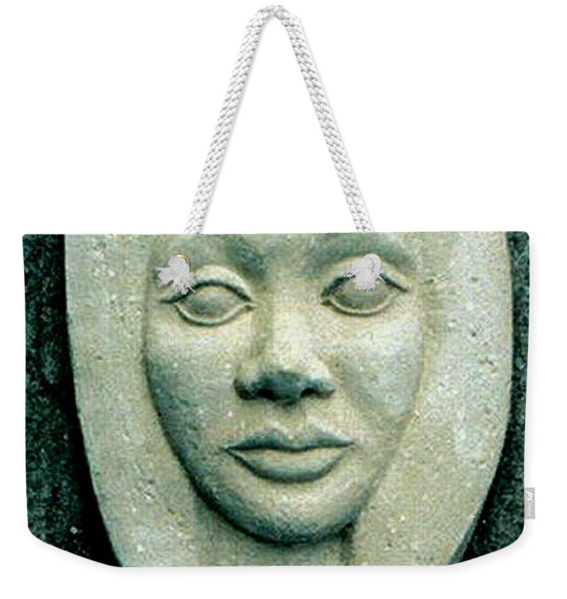 Relief Weekender Tote Bag featuring the relief Without Veils by Madalena Lobao-Tello