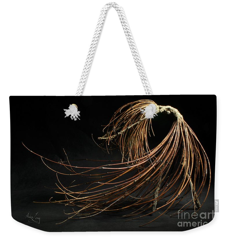 Woman Weekender Tote Bag featuring the mixed media Withstand by Adam Long