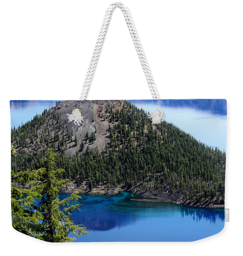 Wizard Island Weekender Tote Bag featuring the photograph Wizard Island by Marnie Patchett