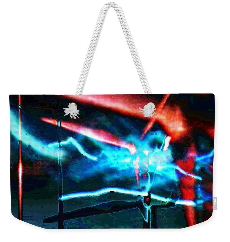 Art Digital Art Weekender Tote Bag featuring the digital art wmill - Forces by Alex Porter