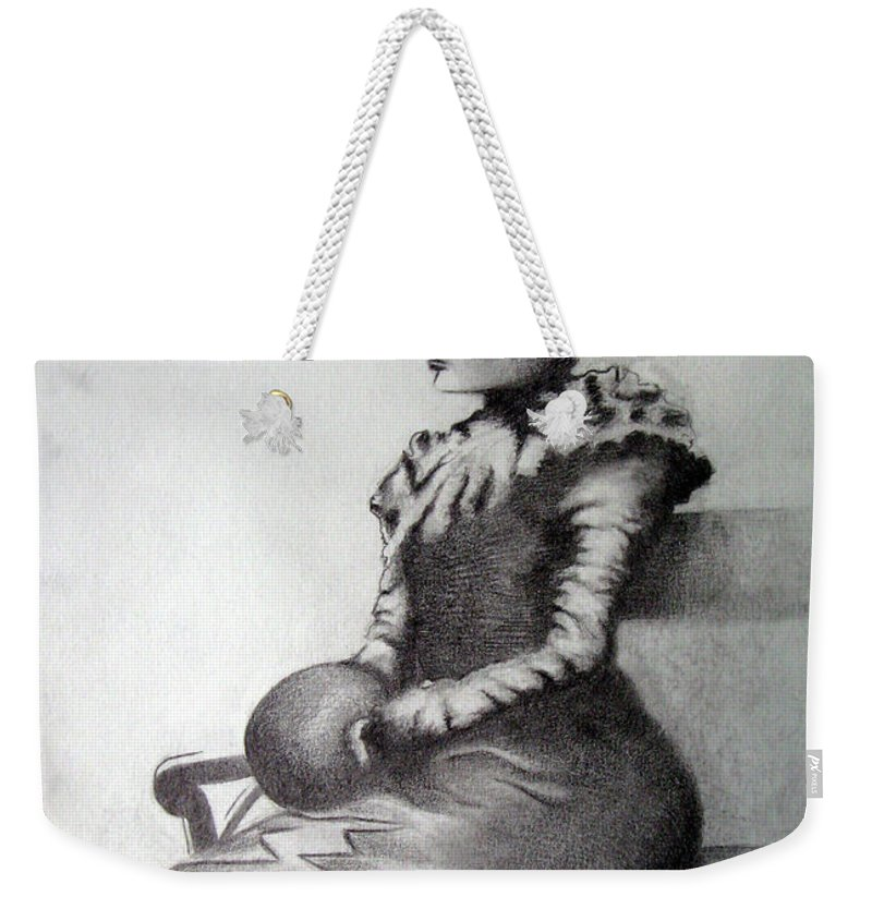Aquarelle Weekender Tote Bag featuring the painting Woman by Alexander Chachanidze