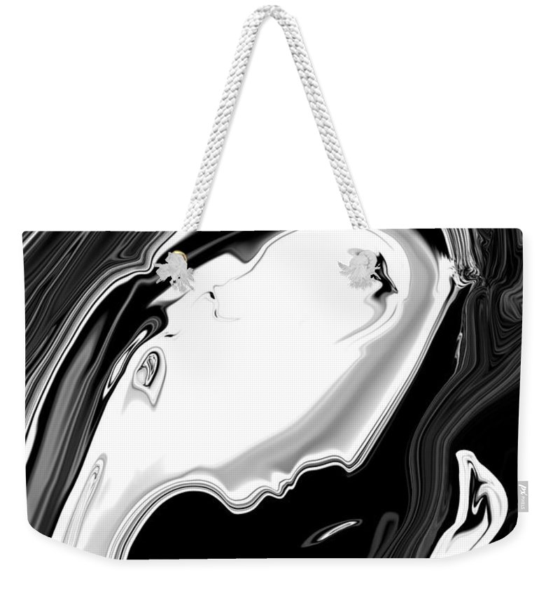 Art Weekender Tote Bag featuring the digital art Woman And Bird by Rabi Khan