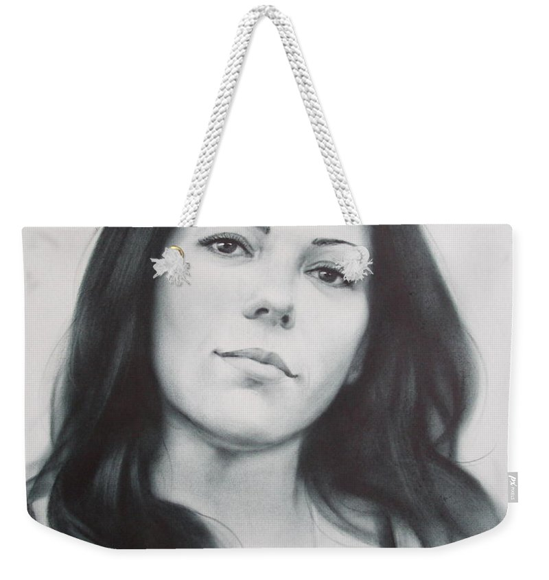 Art Weekender Tote Bag featuring the drawing Woman by Sergey Ignatenko