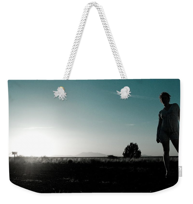 Woman Weekender Tote Bag featuring the photograph Woman Standng by Scott Sawyer