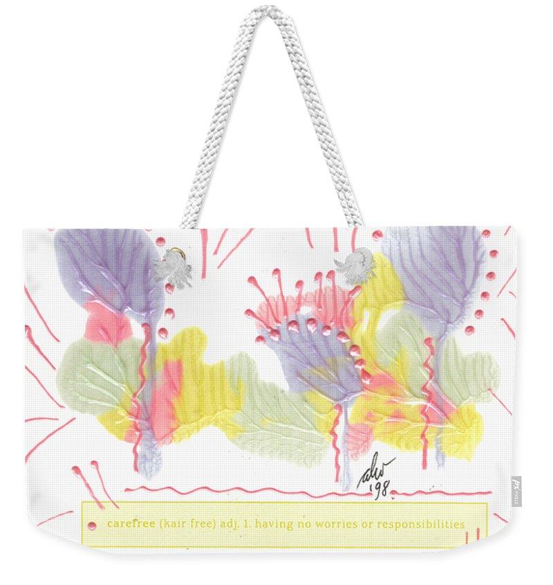 Greeting Cards Weekender Tote Bag featuring the painting Wonderfully Carefree by Angela L Walker