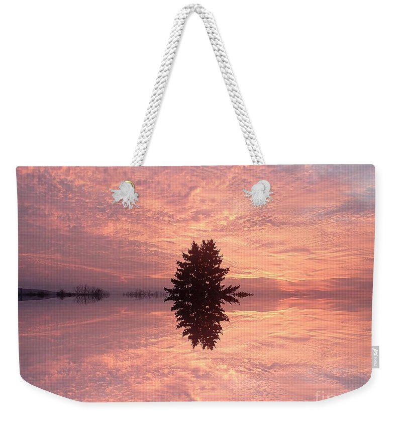 Poconos Weekender Tote Bag featuring the photograph Wondrous Clouds    by Christina Verdgeline