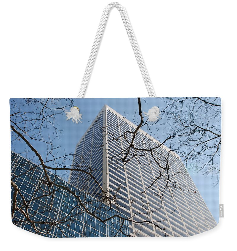 Architecture Weekender Tote Bag featuring the photograph Wood And Glass by Rob Hans