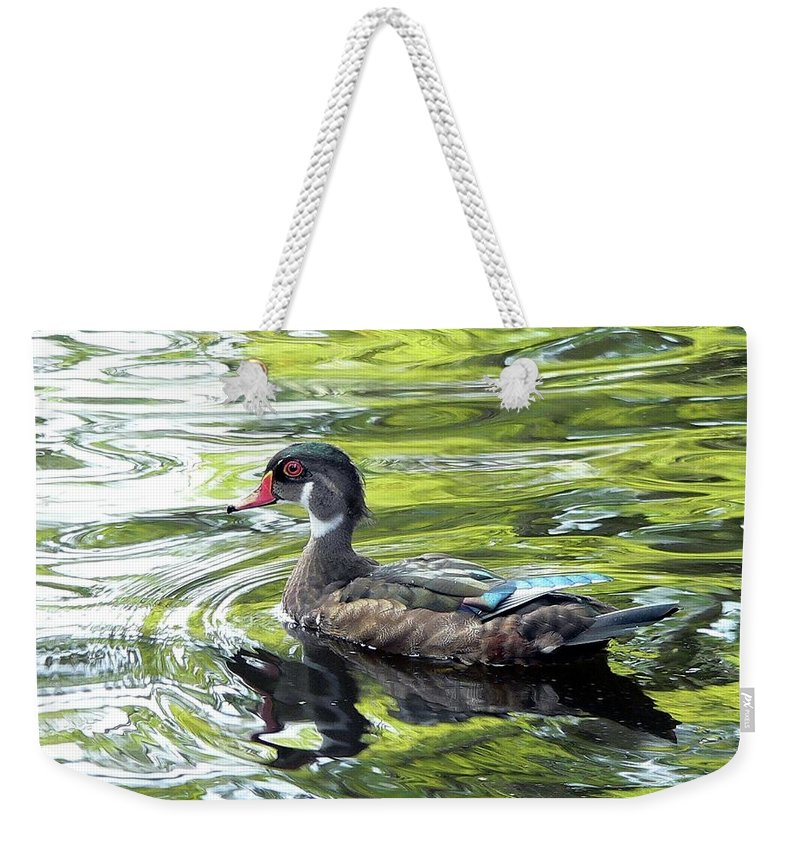 Wood Duck Weekender Tote Bag featuring the photograph Wood Duck by Al Powell Photography USA