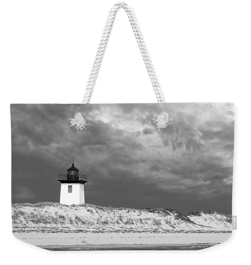 Provincetown Weekender Tote Bag featuring the photograph Wood End Lighthouse Provincetown by Charles Harden