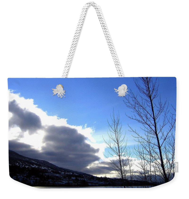 Sunrise Weekender Tote Bag featuring the photograph Wood Lake Sunrise by Will Borden