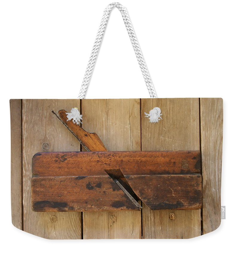 Tool Weekender Tote Bag featuring the photograph Wood Molding Plane 2 by Marna Edwards Flavell