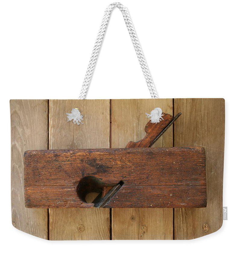 Tool Weekender Tote Bag featuring the photograph Wood Plane 3 by Marna Edwards Flavell