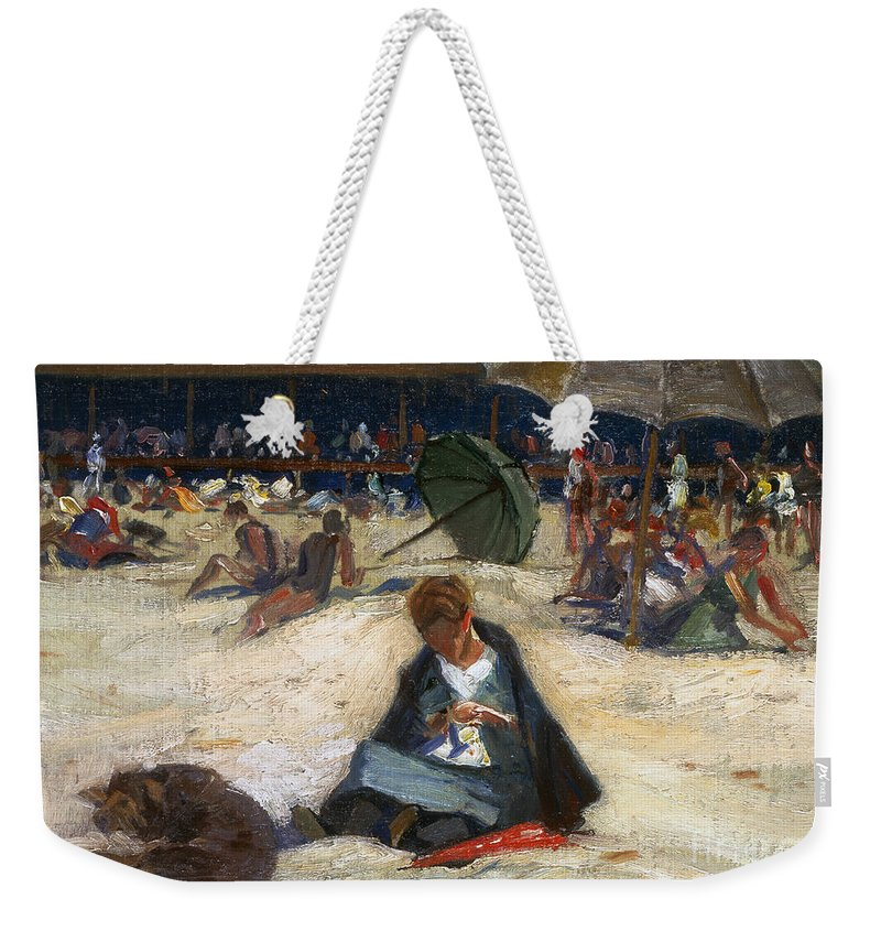1912 Weekender Tote Bag featuring the photograph Woodbury: Ogunquit, C1912 by Granger