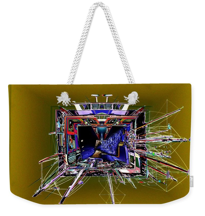 Seattle Weekender Tote Bag featuring the photograph Wooden Boat Vortex by Tim Allen