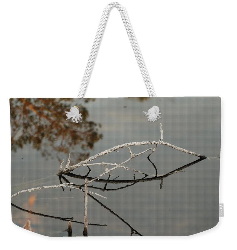 Pink Weekender Tote Bag featuring the photograph Wooden Bridge In Color by Rob Hans
