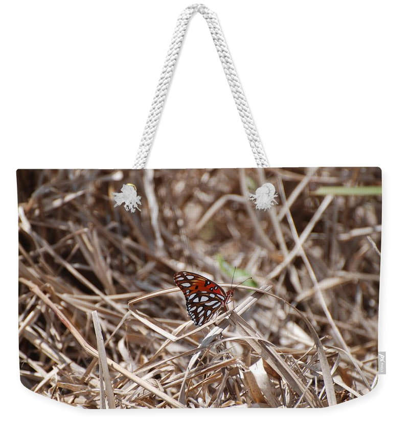 Butterfly Weekender Tote Bag featuring the photograph Wooden Butterfly by Rob Hans