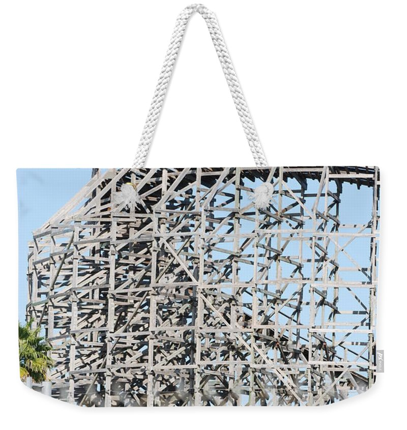 Pop Art Weekender Tote Bag featuring the photograph Wooden Coaster by Rob Hans